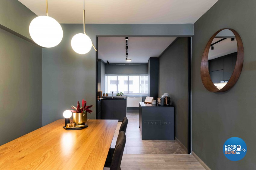 Scandinavian Design - Dining Room - HDB 3 Room - Design by Fineline Design Pte Ltd