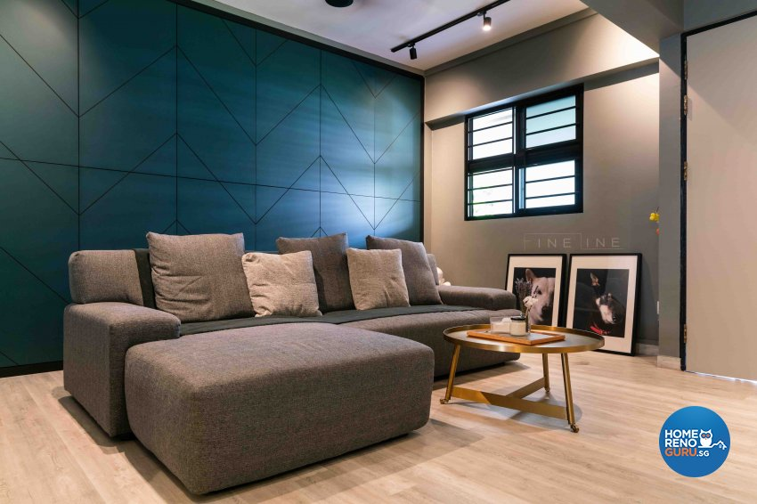 Scandinavian Design - Living Room - HDB 3 Room - Design by Fineline Design Pte Ltd