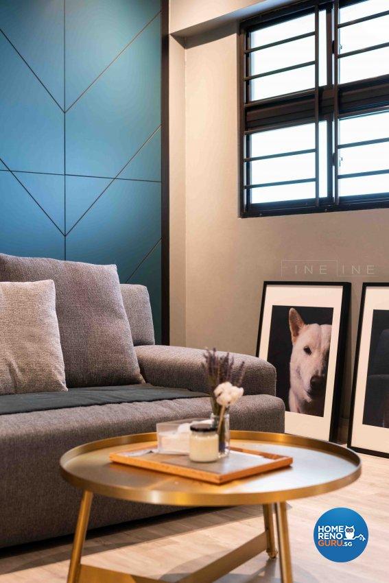 Scandinavian Design - Living Room - HDB 3 Room - Design by Fineline Design Pte Ltd