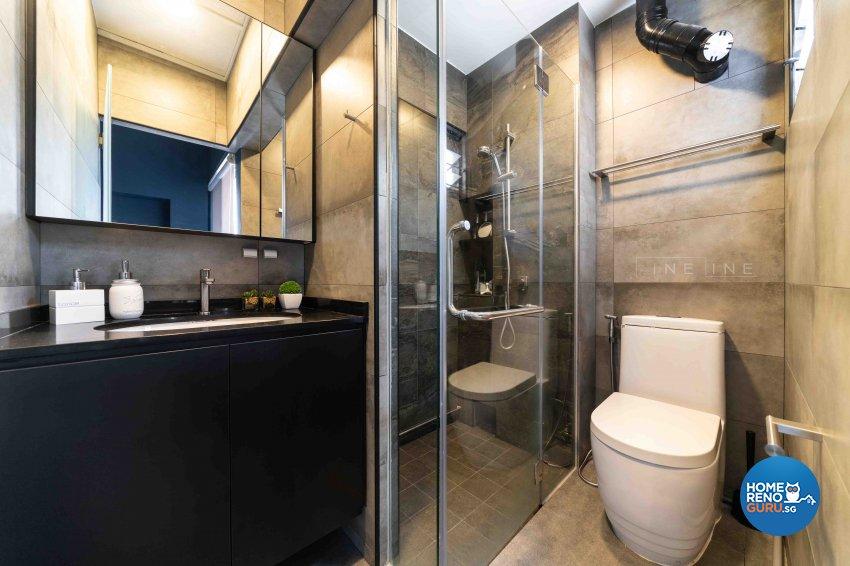 Scandinavian Design - Bathroom - HDB 3 Room - Design by Fineline Design Pte Ltd