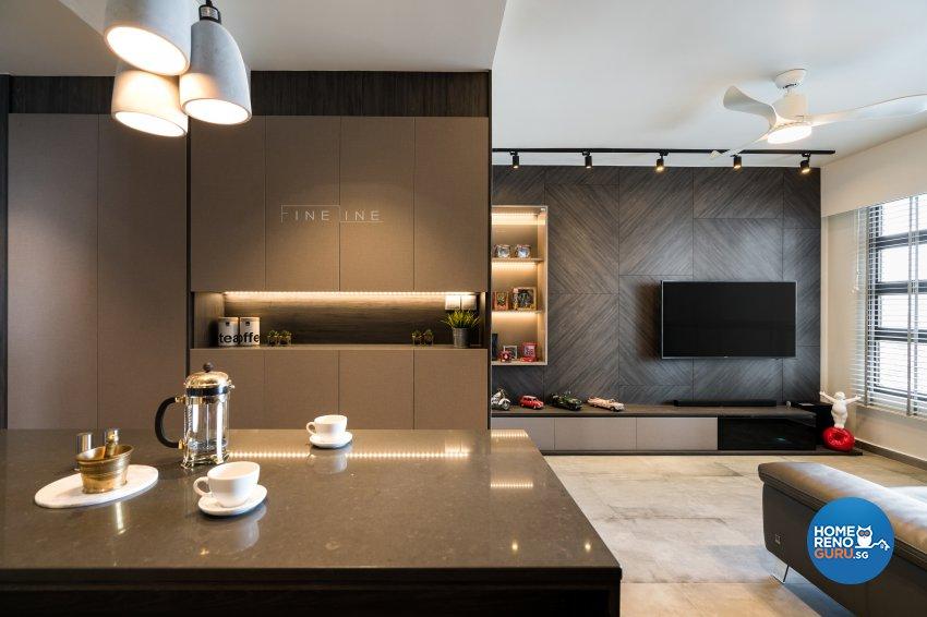 Eclectic Design - Living Room - HDB 4 Room - Design by Fineline Design Pte Ltd