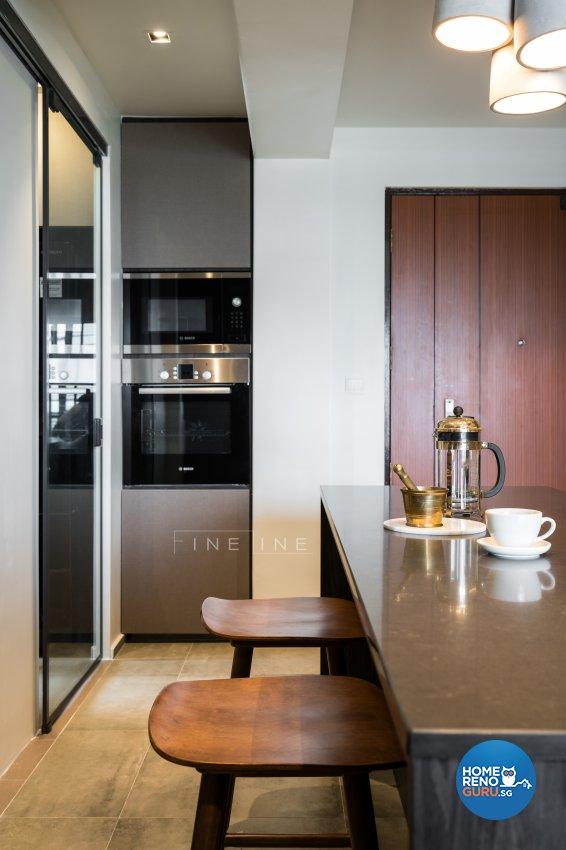Eclectic Design - Dining Room - HDB 4 Room - Design by Fineline Design Pte Ltd