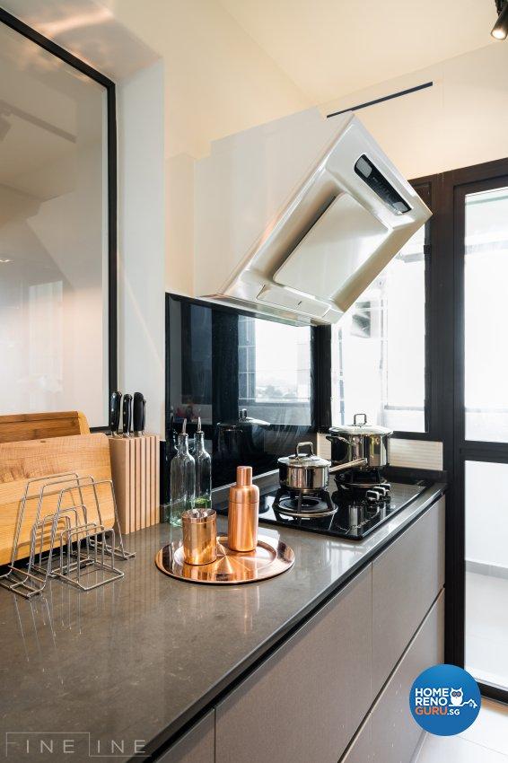 Eclectic Design - Kitchen - HDB 4 Room - Design by Fineline Design Pte Ltd