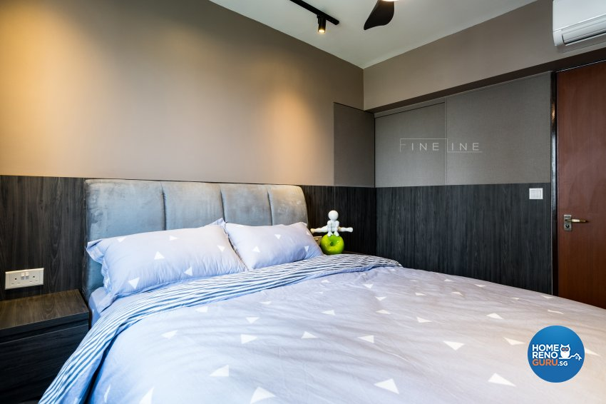 Eclectic Design - Bedroom - HDB 4 Room - Design by Fineline Design Pte Ltd