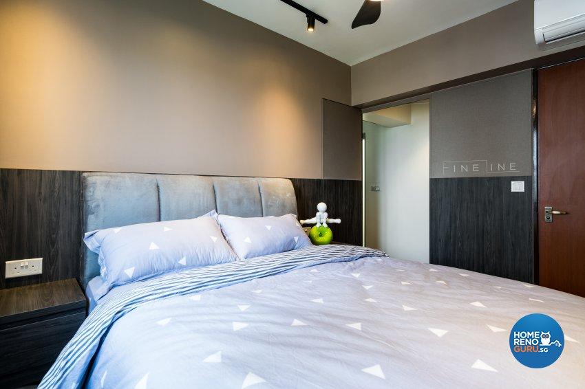 Eclectic Design - Bedroom - HDB 4 Room - Design by Fineline Design Pte Ltd