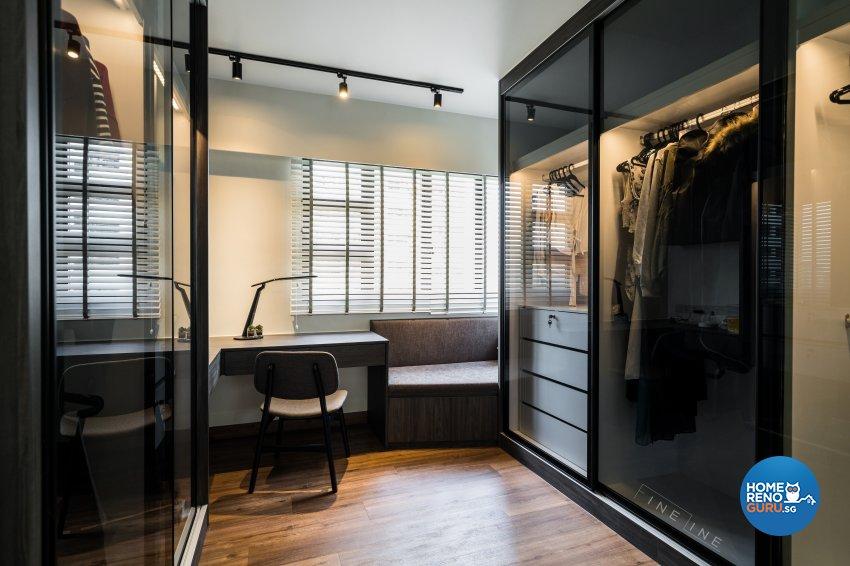 Eclectic Design - Study Room - HDB 4 Room - Design by Fineline Design Pte Ltd