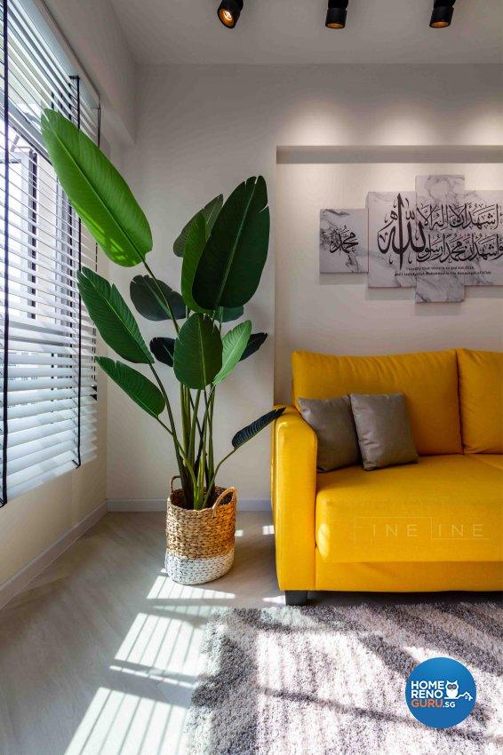 Contemporary, Industrial Design - Living Room - HDB 4 Room - Design by Fineline Design Pte Ltd