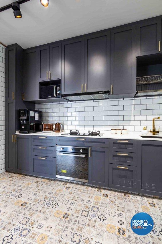 Contemporary, Industrial Design - Kitchen - HDB 4 Room - Design by Fineline Design Pte Ltd