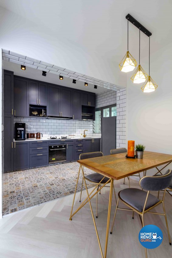 Contemporary, Industrial Design - Dining Room - HDB 4 Room - Design by Fineline Design Pte Ltd
