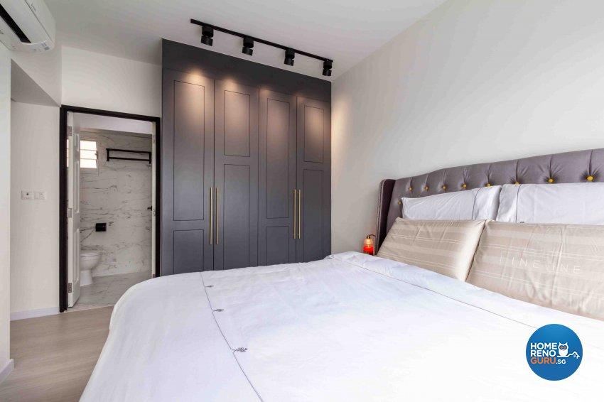 Contemporary, Industrial Design - Bedroom - HDB 4 Room - Design by Fineline Design Pte Ltd