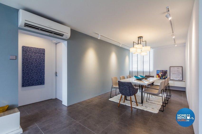 Contemporary, Modern, Rustic Design - Dining Room - HDB 4 Room - Design by Fineline Design Pte Ltd