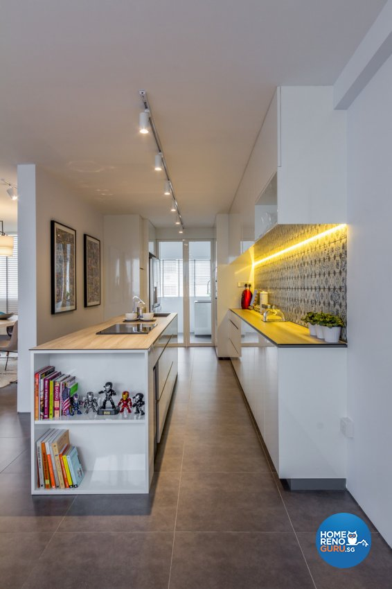 Contemporary, Modern, Rustic Design - Kitchen - HDB 4 Room - Design by Fineline Design Pte Ltd