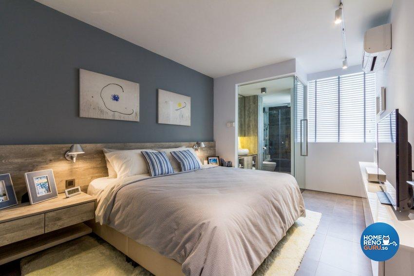 Contemporary, Modern, Rustic Design - Bedroom - HDB 4 Room - Design by Fineline Design Pte Ltd