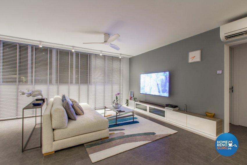 Contemporary, Modern, Rustic Design - Living Room - HDB 4 Room - Design by Fineline Design Pte Ltd