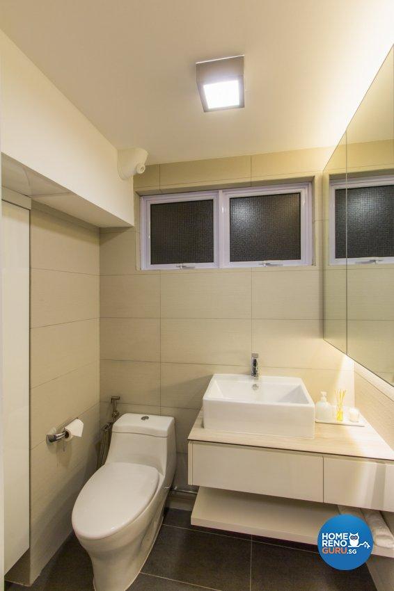 Contemporary, Modern, Rustic Design - Bathroom - HDB 4 Room - Design by Fineline Design Pte Ltd