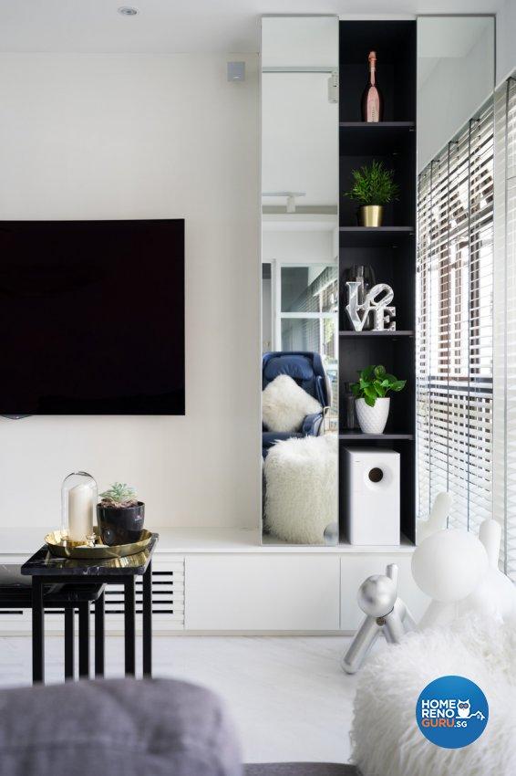 Minimalist Design - Living Room - HDB 4 Room - Design by Fineline Design Pte Ltd
