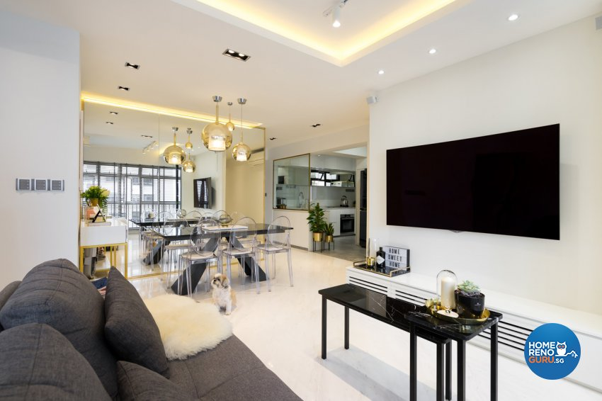 Minimalist Design - Living Room - HDB 4 Room - Design by Fineline Design Pte Ltd