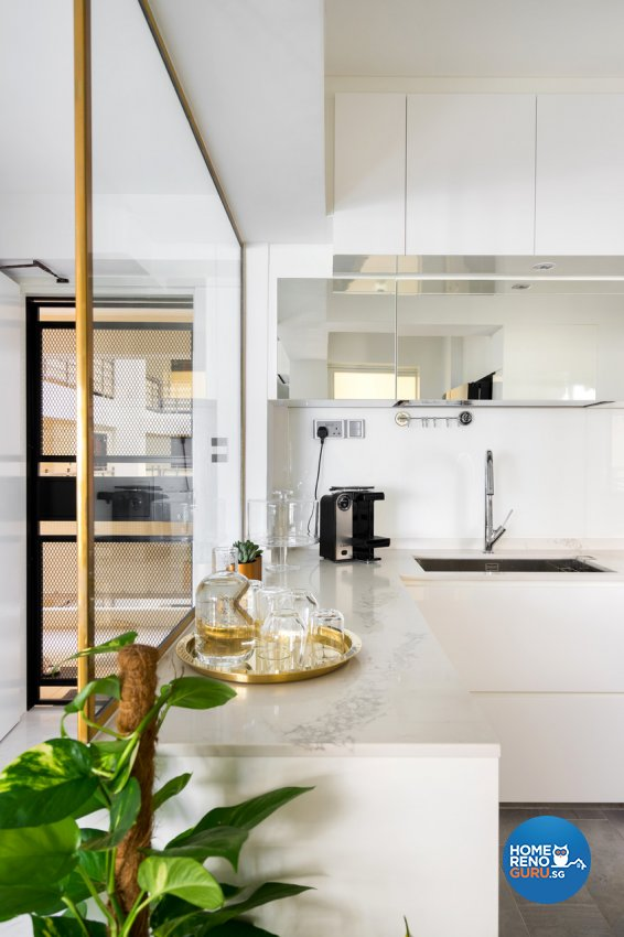 Minimalist Design - Kitchen - HDB 4 Room - Design by Fineline Design Pte Ltd
