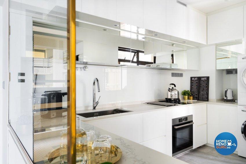 Minimalist Design - Kitchen - HDB 4 Room - Design by Fineline Design Pte Ltd