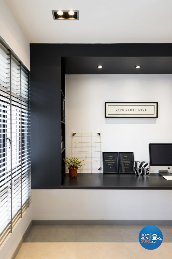 Minimalist Design - Study Room - HDB 4 Room - Design by Fineline Design Pte Ltd