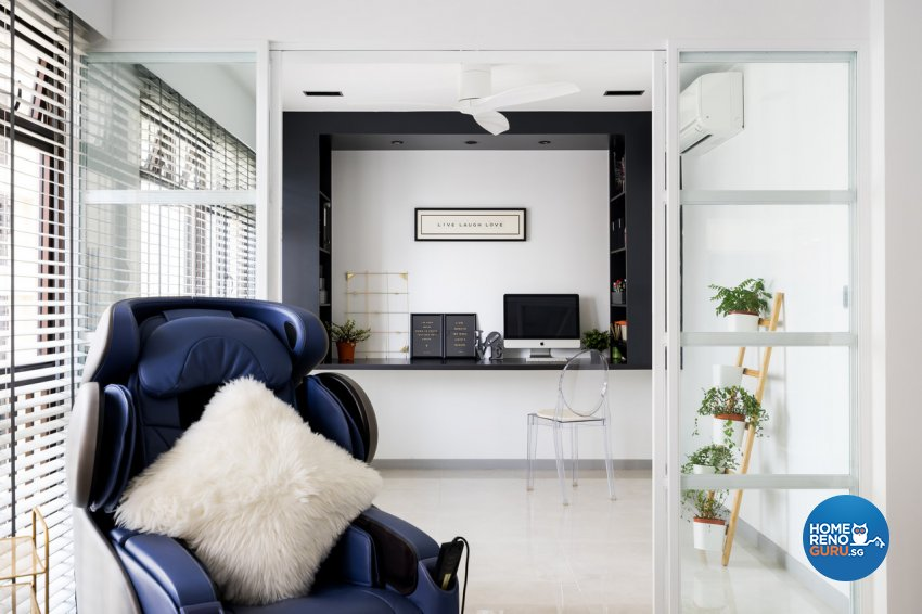 Minimalist Design - Study Room - HDB 4 Room - Design by Fineline Design Pte Ltd