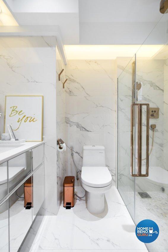 Minimalist Design - Bathroom - HDB 4 Room - Design by Fineline Design Pte Ltd