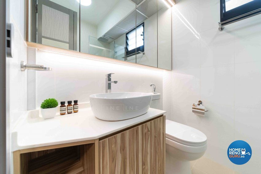 Scandinavian Design - Bathroom - HDB 4 Room - Design by Fineline Design Pte Ltd