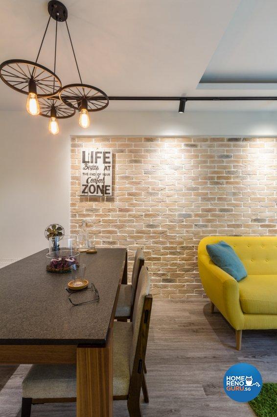 Contemporary, Modern Design - Dining Room - HDB 4 Room - Design by Fineline Design Pte Ltd
