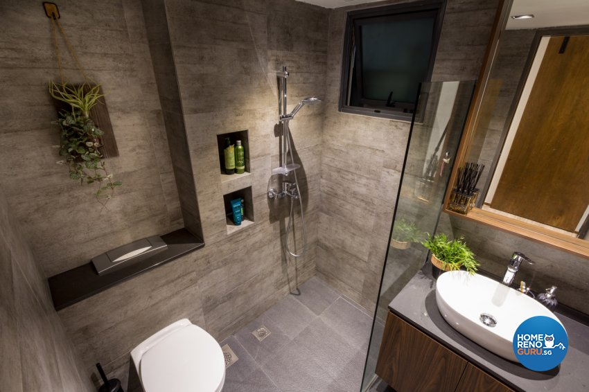 Contemporary, Modern Design - Bathroom - HDB 4 Room - Design by Fineline Design Pte Ltd