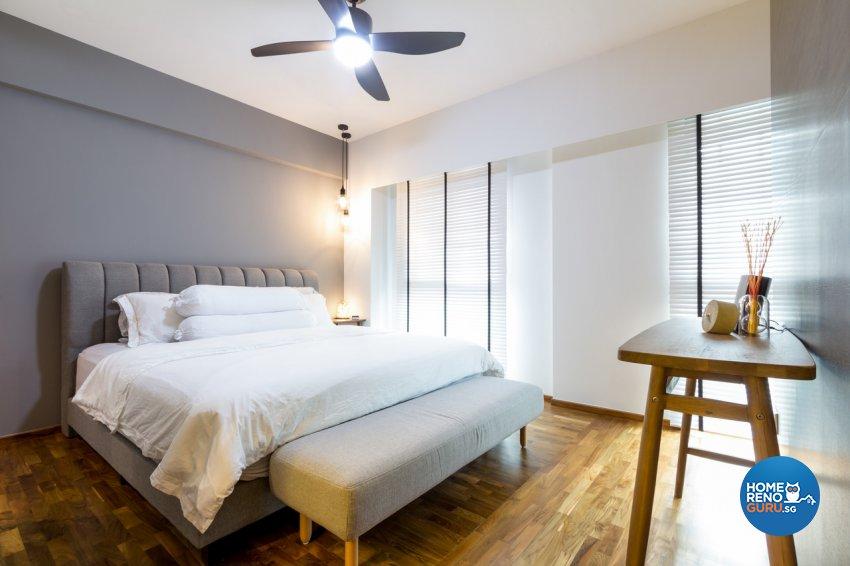 Contemporary, Modern Design - Bedroom - HDB 4 Room - Design by Fineline Design Pte Ltd