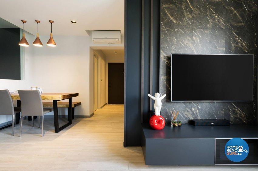 Contemporary, Scandinavian Design - Living Room - HDB 4 Room - Design by Fineline Design Pte Ltd
