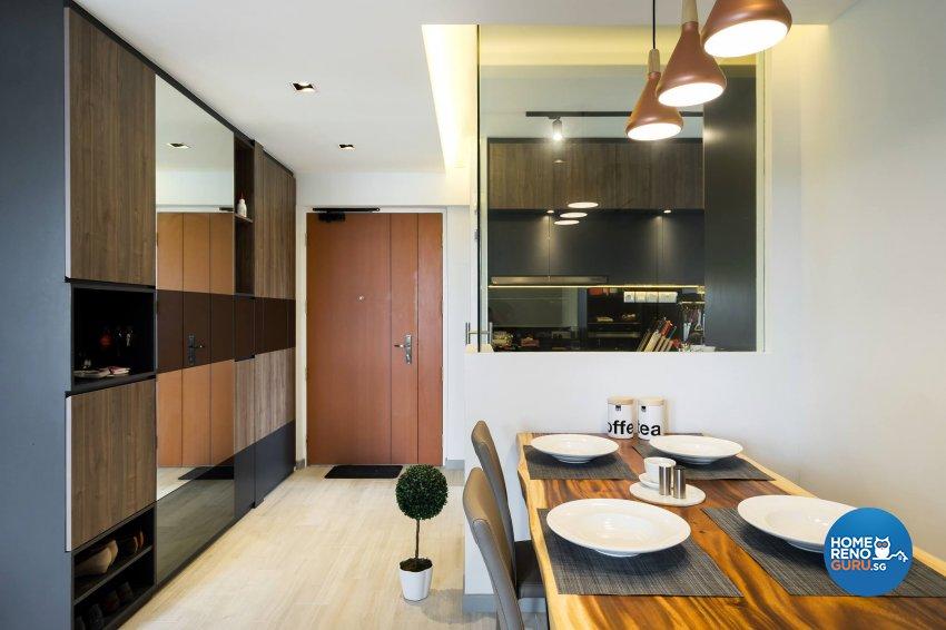 Contemporary, Scandinavian Design - Dining Room - HDB 4 Room - Design by Fineline Design Pte Ltd