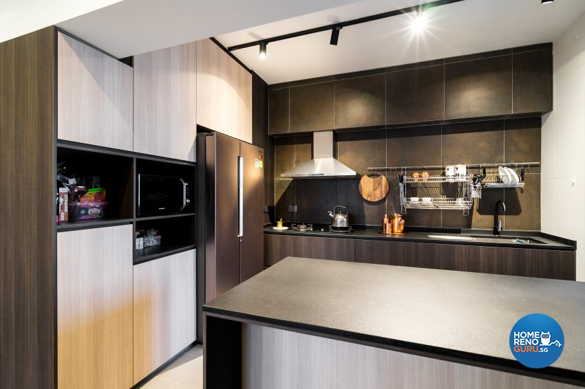 Scandinavian Design - Kitchen - HDB 4 Room - Design by Fineline Design Pte Ltd