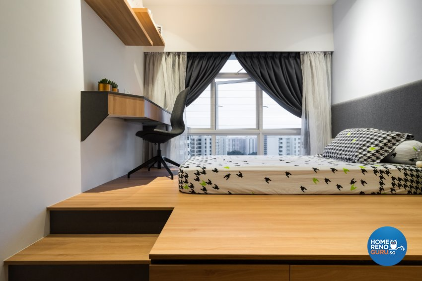 Scandinavian Design - Bedroom - HDB 4 Room - Design by Fineline Design Pte Ltd