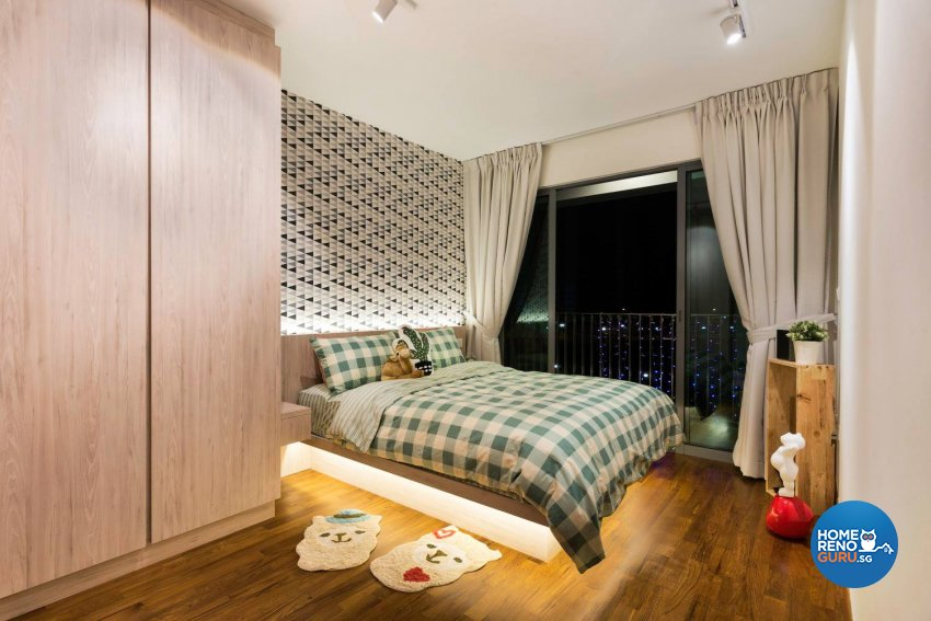 Scandinavian Design - Bedroom - HDB 4 Room - Design by Fineline Design Pte Ltd