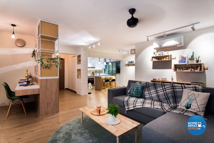 Scandinavian Design - Living Room - HDB 4 Room - Design by Fineline Design Pte Ltd
