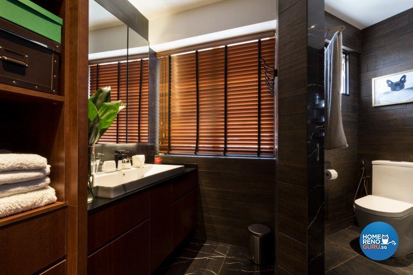Contemporary, Modern Design - Bathroom - HDB 4 Room - Design by Fineline Design Pte Ltd