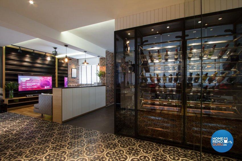 Contemporary, Modern Design - Living Room - HDB 4 Room - Design by Fineline Design Pte Ltd