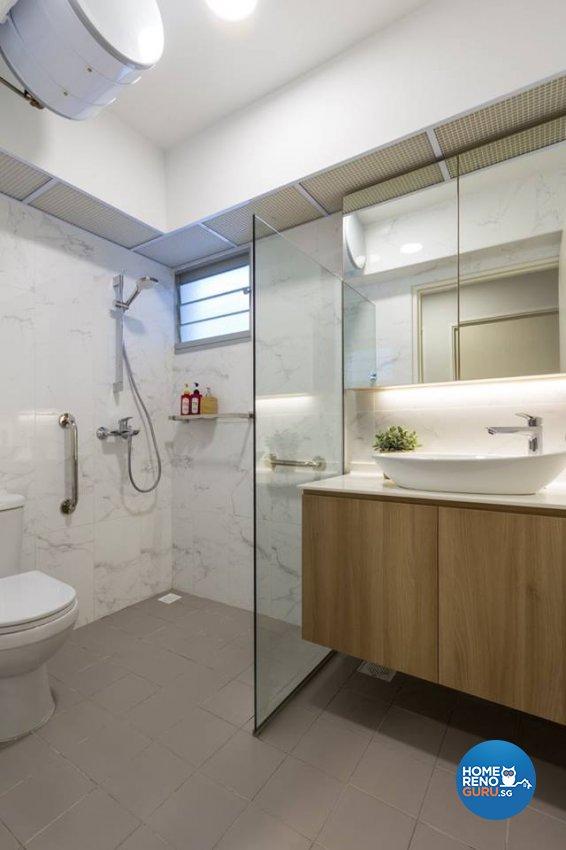 Scandinavian Design - Bathroom - HDB 4 Room - Design by Fineline Design Pte Ltd