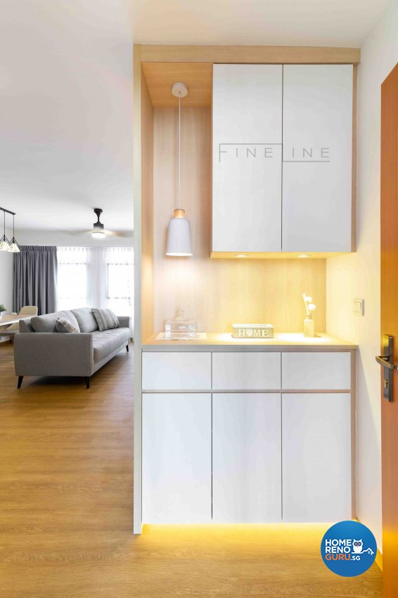 Scandinavian Design - Living Room - HDB 5 Room - Design by Fineline Design Pte Ltd