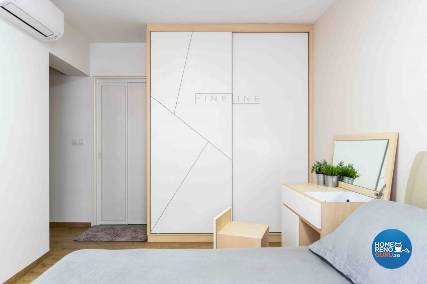 Scandinavian Design - Bedroom - HDB 5 Room - Design by Fineline Design Pte Ltd