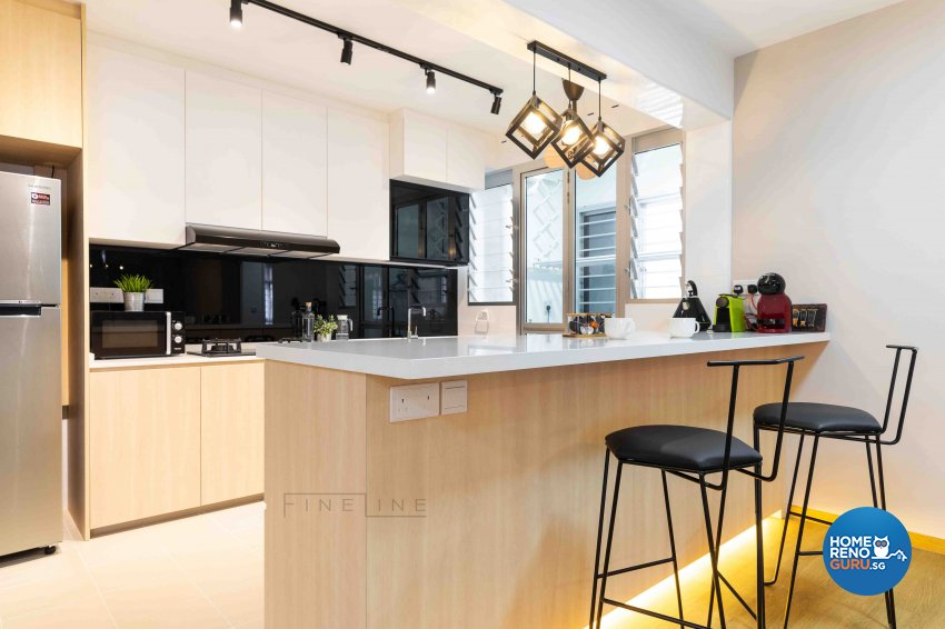 Scandinavian Design - Kitchen - HDB 5 Room - Design by Fineline Design Pte Ltd
