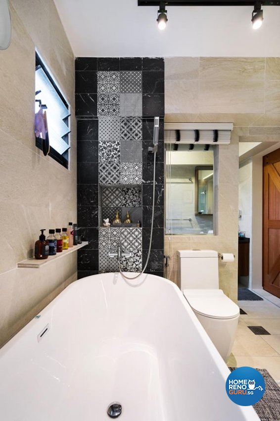 Contemporary Design - Bathroom - HDB 5 Room - Design by Fineline Design Pte Ltd