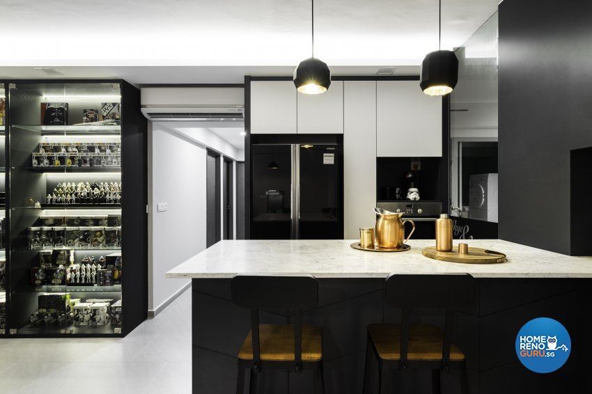 Contemporary Design - Kitchen - HDB 5 Room - Design by Fineline Design Pte Ltd