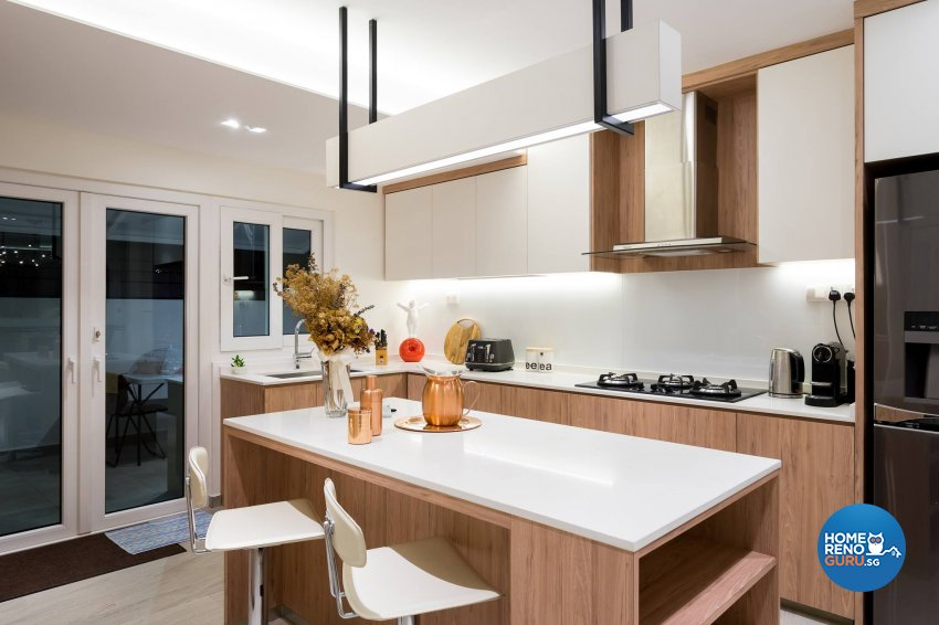 Contemporary Design - Kitchen - Landed House - Design by Fineline Design Pte Ltd