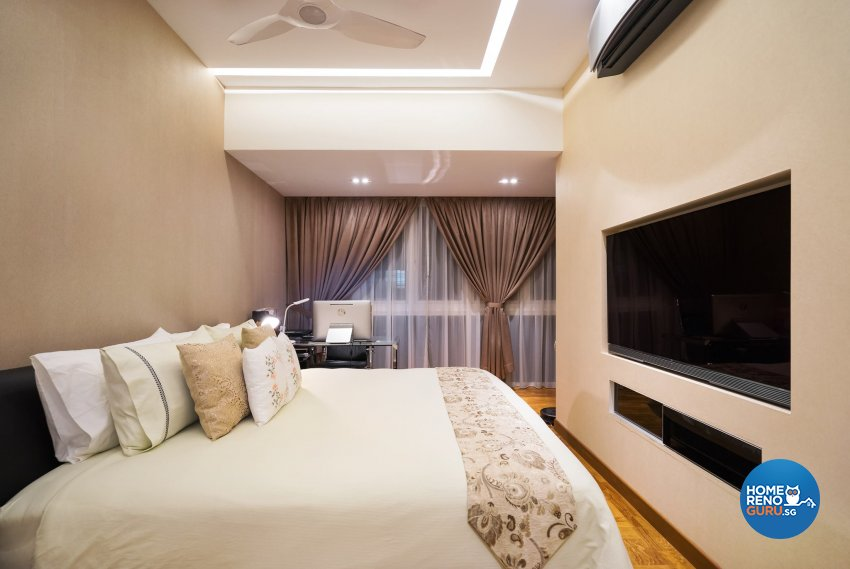 Contemporary Design - Bedroom - Landed House - Design by Fineline Design Pte Ltd
