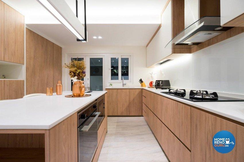 Contemporary Design - Kitchen - Landed House - Design by Fineline Design Pte Ltd