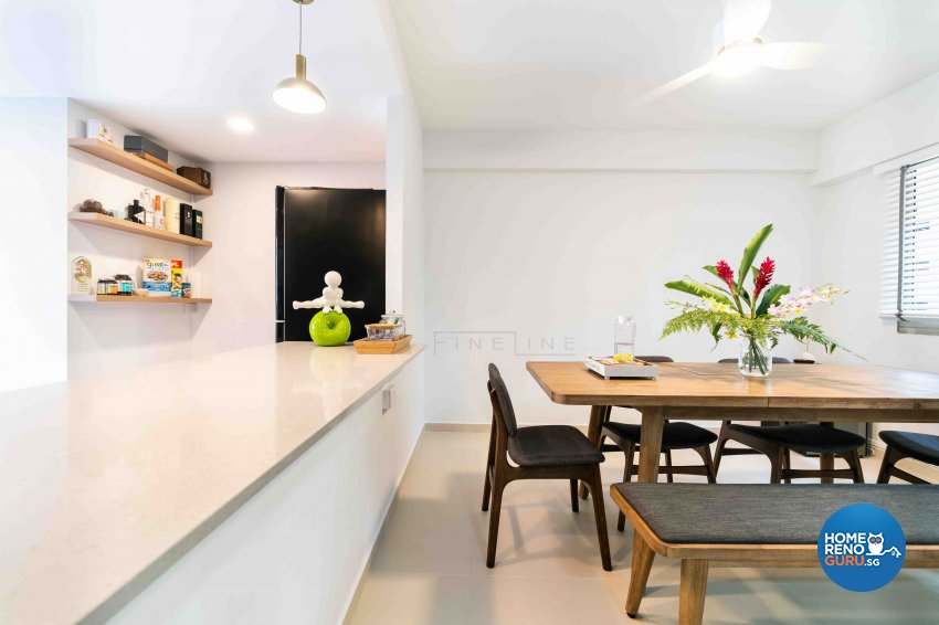 Modern Design - Dining Room - HDB Executive Apartment - Design by Fineline Design Pte Ltd