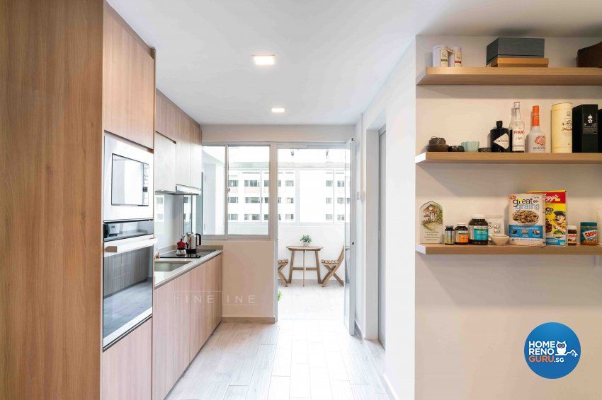 Modern Design - Kitchen - HDB Executive Apartment - Design by Fineline Design Pte Ltd