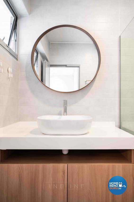 Modern Design - Bathroom - HDB Executive Apartment - Design by Fineline Design Pte Ltd